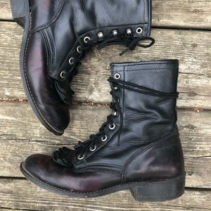Vintage Laredo lace-up leather Western boot